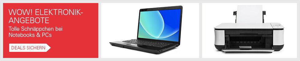 WOW! Elektronik-Angebote - Tolle Schnäppchen bei Notebooks & PCs - Deals sichern