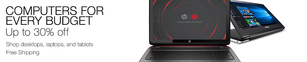 Computers for every budget up to 30% off | Desktops, laptops, and tablets