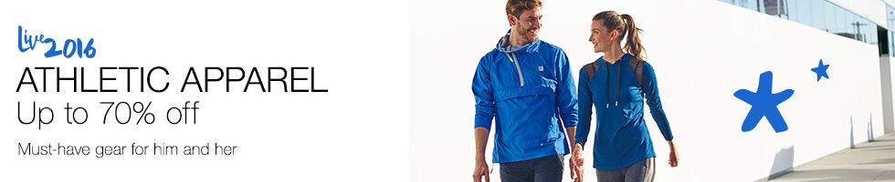 Athletic Apparel up to 70% off | Must-have gear for him & her