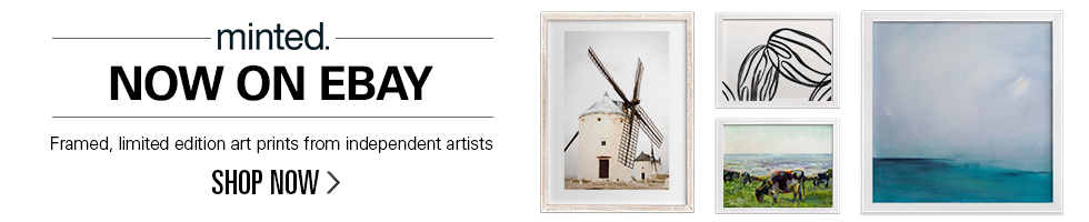 minted. now on eBay | Framed, limited edition art prints from independent artists | Shop now