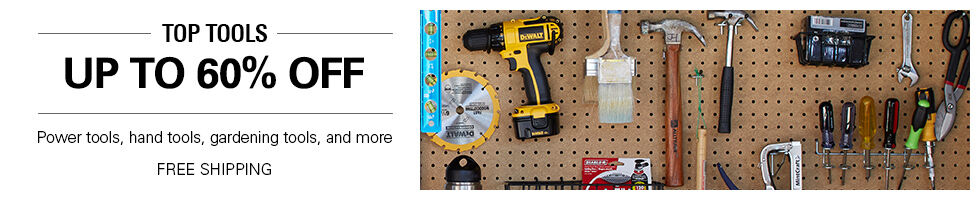 Top tools up to 60% off | Power tools, hand tools, gardening tools, and more