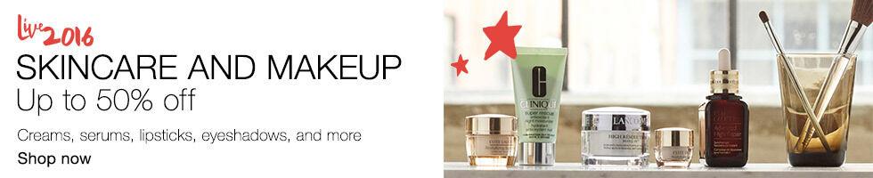 Skincare & makeup up to 50% off | Creams, serums, lipsticks, eyeshadows, and more