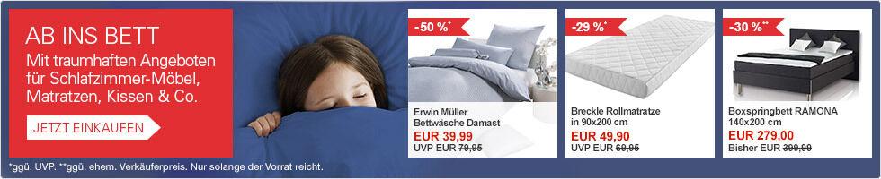 Angebote für Ihr Schlafzimmer