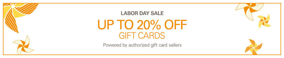 Gift Cards Labor Day Frenzy