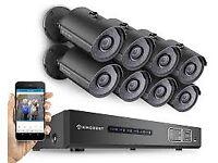 cctv security kit hd system ip camera