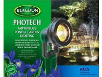 Blagdon Photech 35 watt pond light .Compete with coloured lenses.