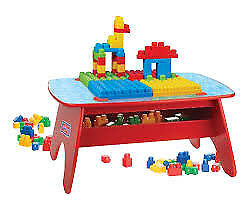 Mega Bloks First Builders Big Building Table and Box of Blok