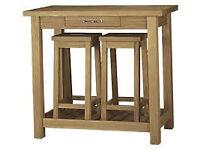 Oak refectory table: Laura Ashley