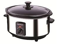 Brand New Boxed Morphy Richards Slow Cooker 3.5 litre Capacity in Stainless Steel