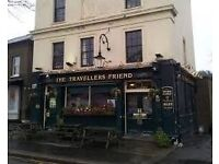 Bar Staff Required The Travellers Friend, Woodford Green