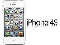 APPLE iPhone 4s 16GB WHITE FACTORY UNLOCKED 60 DAYS WARRANTY GOOD CONDITION LAPTOP/PC USB LEAD