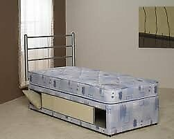 Brand New Comfy Storage Divan Slide store bed set in Blue fabric FREE delivery