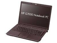 "HP G7000 model laptop. 15"" Screen. Windows removed 120GB drive Pentium Duo 1.86 Mhz, 2GB RAM"