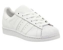 WHITE ADIDAS SUPERSTAR NEW