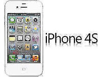 APPLE iPhone 4s 16GB WHITE FACTORY UNLOCKED 60 DAYS WARRANTY GOOD CONDITION LAPTOP/PC USB LEAD