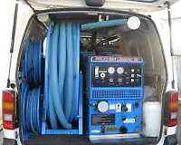 We Use Truckmount Super Hot Steam Carpet Cleaning units.