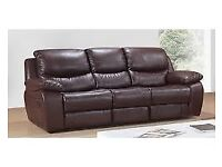 Layzyboy leather sofa and chair can deliver