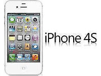 APPLE iPhone 4s 8GB WHITE UNLOCKED 3 MTHS WARRANTY VGC CONDITION BOX LAPTOP/PC USB LEAD HEADPHONES