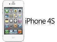 APPLE iPhone 4s 8GB WHITE UNLOCKED 3 MTHS WARRANTY VGC CONDITION BOX LAPTOP/PC USB LEAD HEADPHONES