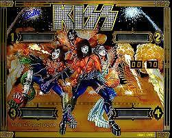 KISS Backglass Wanted Bally Pinball Machine Arcade Coin Operated