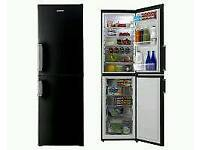 GRADED HOOVER HVBF5192BHK FRIDGE FREEZER - BLACK WITH 12 MONTHS WARRANTY