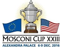 2 x Mosconi cup tickets 7th December 2016