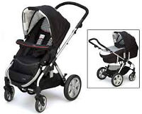 European I'Coo Targo Stroller-bassinet-car seat.Full set
