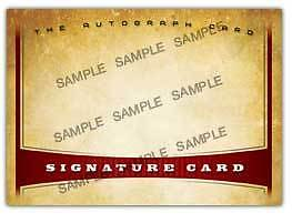 "The Autograph Card Blank Signature cards 25 ""non-sport"""