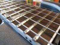 Learn Pro Level Refretting and Fret Levelling this Fall