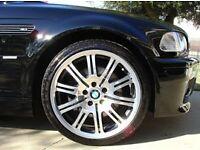 """Genuine BMW 3 Series E46 19"""" M3 Style 67 4x Double Spoke Alloys Rims With Tyres."""