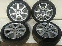5 x Honda Alloy Wheels 4 with Tyres