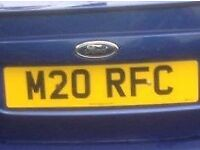 private number plate M20RFC