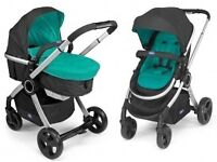 PRICE REDUCED,Chicco Urban Pram and Push Chair+brand new Teal Colour Pack