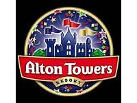 Alton towers tickets July 2018.