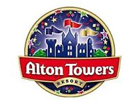 2 x Free entry tickets for Alton Towers for Saturday 19th May