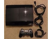 Ps3 500gb all leads 2 games gt6 an cod ghosts