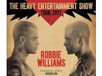 2 x Robbie Williams Friday 2nd June 2017 - Etihad Stadium Heavy entertainment Show 2017