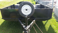 7.5 X 14.5 HEAVY DUTY UTILITY TRAILER WITH ELECTRIC BRAKES