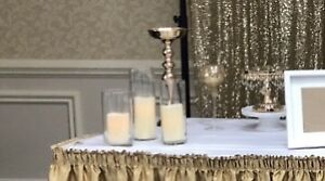 Tall vases and candles