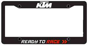 NEW KTM CAR / TRUCK LICENSE PLATE FRAME (METAL) UPW1871110