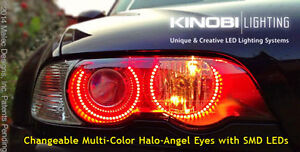 DEVIL EYES BMW M3 E46 E36 E38 E39 Multi-Color LED Angel Eyes Rings kit & REMOTE