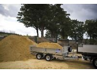 Sand and gravel delivered loose