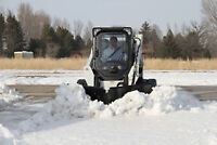 BOBCAT AND SKID STEER SNOW BREAK V - PLOW ATTACHMENT