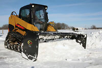 BOBCAT AND SKID STEER SNOW PUSH C/W PULL-BACK SYSTEM