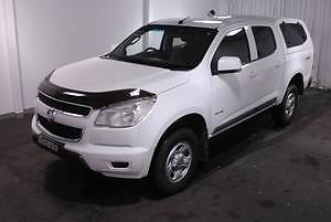 2012 Holden Colorado 2.8L TURBO DIESEL DUAL CAB WHITE AUTO Ute LX Lansvale Liverpool Area Preview