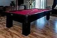 Sold ppu- Free- must go - pool table with cues and accessories