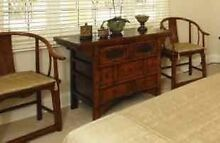 ANTIQUE CHINESE QING DYNASTY HALL/CONSOLE TABLE & 2 CHAIRS Nedlands Nedlands Area Preview