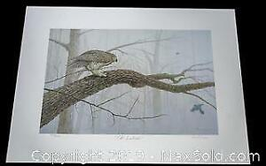 Harold Crowe  The Intruder Great Horned Owl limited edition print, s/n