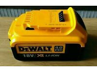 ***SOLD****4 X Dewalt DCB182 XJ 18V 4.0Ah XR Li-ion Batteries *All Brand New & Unused*