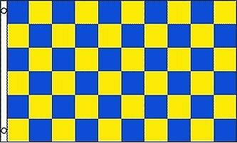 BLUE & YELLOW  CHECKERED Flag - Blue Checkered Flag